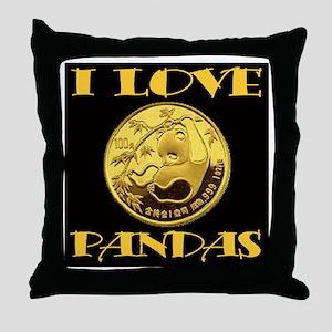 I Love Pandas Baby Throw Pillow