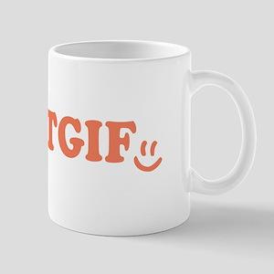 TGIF - Smiley Face - Peach Mug