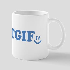 TGIF - Smiley Face - Blue Mug
