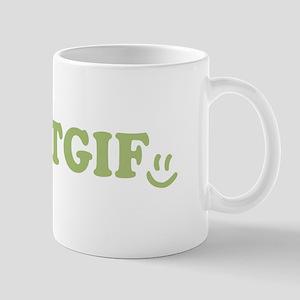 TGIF - Smiley Face - Green Mug