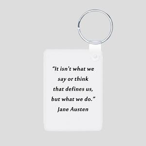 Austen - Say or Think Aluminum Photo Keychain