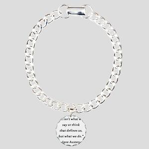 Austen - Say or Think Charm Bracelet, One Charm