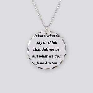 Austen - Say or Think Necklace Circle Charm