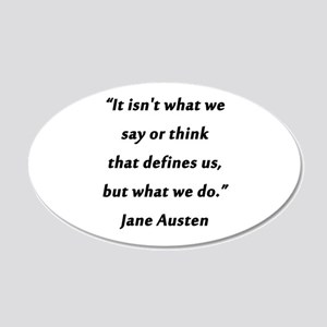 Austen - Say or Think 20x12 Oval Wall Decal