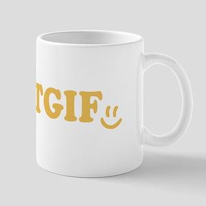 TGIF - Smiley Face - Yellow Mug