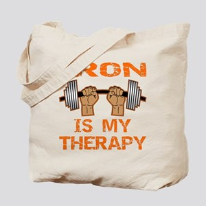 Iron Is My Therapy Tote Bag