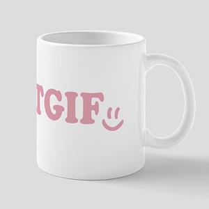 TGIF - Smiley Face - Pink Mug