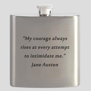 Austen - Courage Always Rises Flask