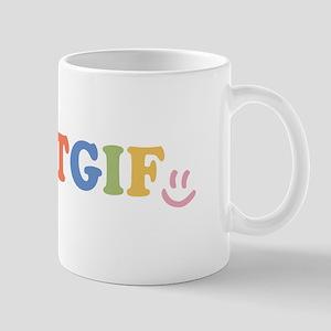 TGIF - Smiley Face - Rainbow Colors Mug