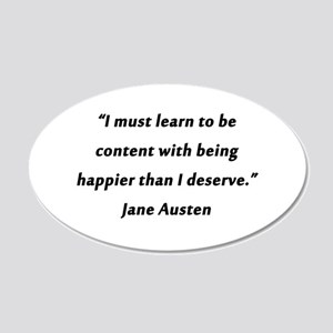 Austen - Learn to Be Content 20x12 Oval Wall Decal