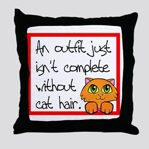 Cat Hair Throw Pillow