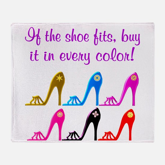 DAZZLING SHOES Throw Blanket
