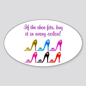 DAZZLING SHOES Sticker (Oval)