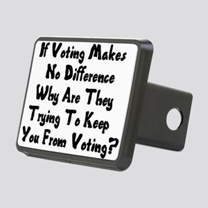 GOP War On Voting Rectangular Hitch Cover