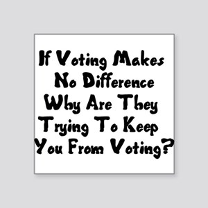 "GOP War On Voting Square Sticker 3"" x 3"""
