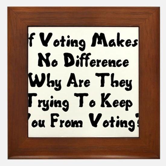GOP War On Voting Framed Tile