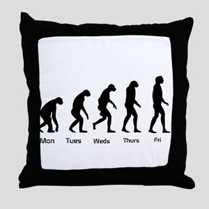 Evolution of the Weekday Throw Pillow