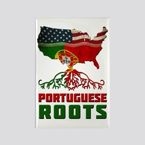 American Portuguese Roots Rectangle Magnet