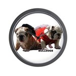 BULLDOG SMILES Wall Clock