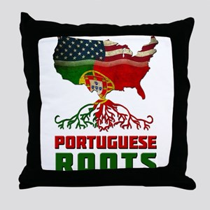 American Portuguese Roots Throw Pillow