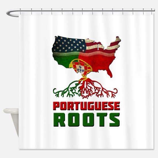 American Portuguese Roots Shower Curtain