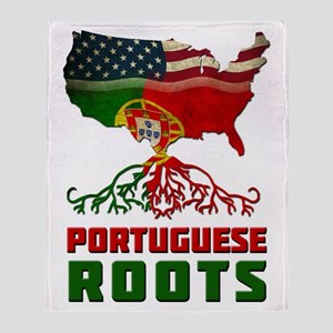 American Portuguese Roots Throw Blanket