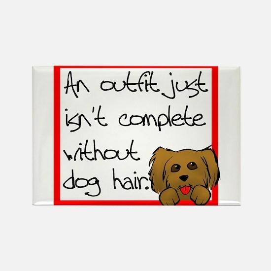 Dog Hair Rectangle Magnet