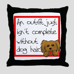 Dog Hair Throw Pillow