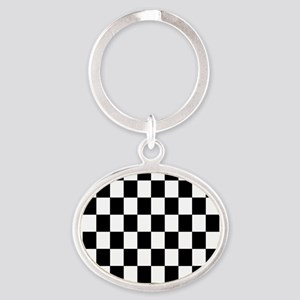 Classic Black Checkered Flag Keychains