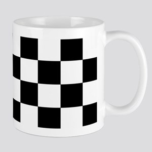 Black and White Checkerboard Mug