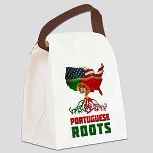 American Portuguese Roots Canvas Lunch Bag