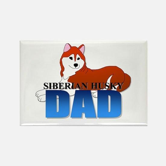 Siberian Husky Dad Rectangle Magnet (10 pack)