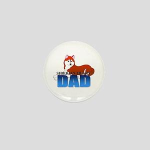 Siberian Husky Dad Mini Button