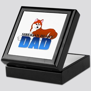Copper Siberian Husky Dad Keepsake Box