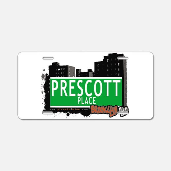 PRESCOTT PLACE, BROOKLYN, NYC Aluminum License Pla