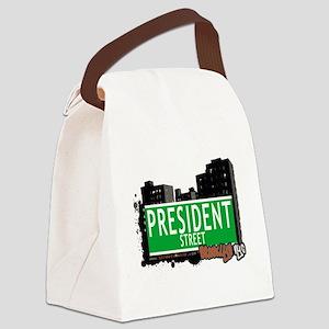 PRESIDENT STREET, BROOKLYN, NYC Canvas Lunch Bag