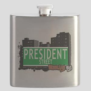 PRESIDENT STREET, BROOKLYN, NYC Flask