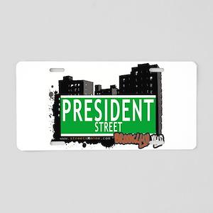 PRESIDENT STREET, BROOKLYN, NYC Aluminum License P