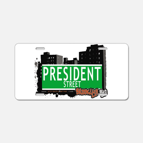 PRESIDENT STREET, BROOKLYN, NYC Aluminum License P