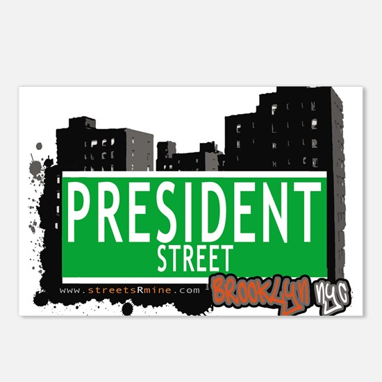 PRESIDENT STREET, BROOKLYN, NYC Postcards (Package