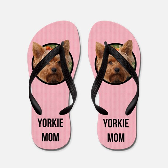 Yorkshire Terrier Mom Flip Flops