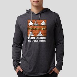 Retired Chick Mens Hooded Shirt