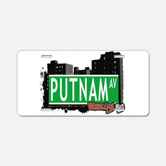 PUTNAM AV, BROOKLYN, NYC Aluminum License Plate
