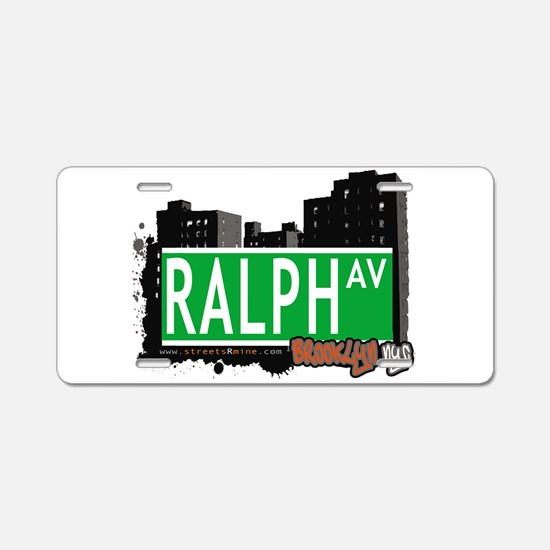 RALPH AV, BROOKLYN, NYC Aluminum License Plate