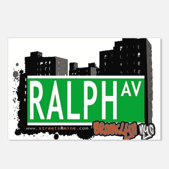 RALPH AV, BROOKLYN, NYC Postcards (Package of 8)