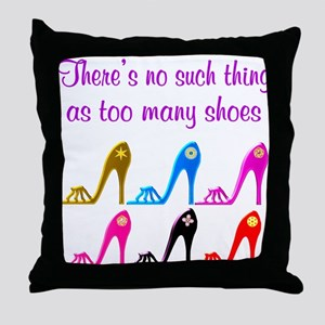 SHOE ADDICT Throw Pillow
