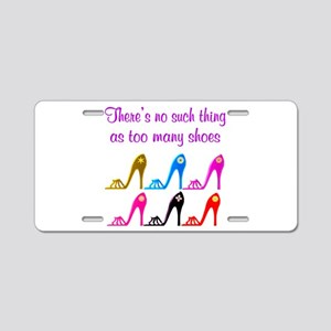 SHOE ADDICT Aluminum License Plate
