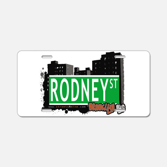 RODNEY ST, BROOKLYN, NYC Aluminum License Plate