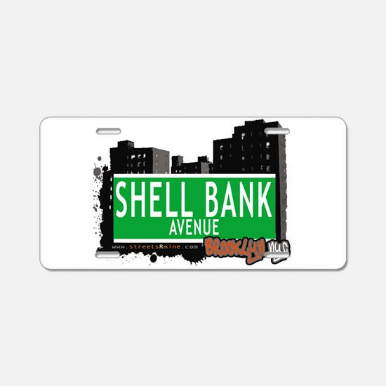 SHELL BANK AVENUE, BROOKLYN, NYC Aluminum License