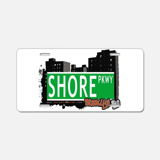 SHORE PKWY, BROOKLYN, NYC Aluminum License Plate